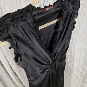 Roberto Cavalli silk ruffle dress